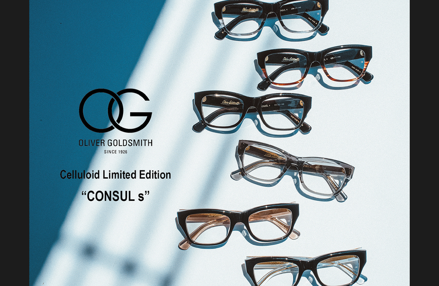 OG OLIVER GOLDSMITH Celluloid Limited Edition CONSULs
